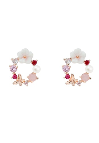 Mellow gold Flower Hoop Earrings E5040ACC26E7BBGS_1