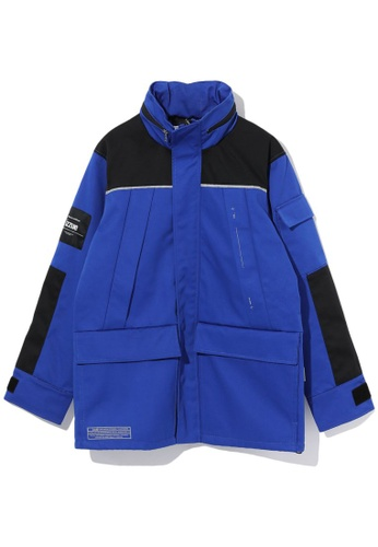 izzue navy Reflective piping coat B78A4AA081D122GS_1