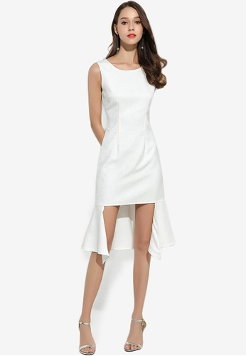 Sunnydaysweety white Temperament Fishtail Split Sleeveless Dress A0424990NEW EA470AA83072BEGS_1