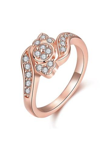 Tiaria pink Tiaria Ring Aksesoris Cincin Lapis Emas KZCR084-B-7--K16 F5D0DACF2A0205GS_1