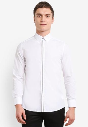 G2000 white Placket Detail Long Sleeve Shirt G2754AA0SHBTMY_1