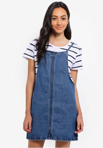 85ba737fc Buy Cotton On Faith Denim Pinafore Mini Dress Online on ZALORA Singapore