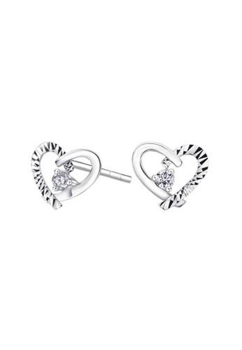 MaBelle silver 18K/750 White Gold Diamond Heart Earrings 0B83BAC0CF7002GS_1