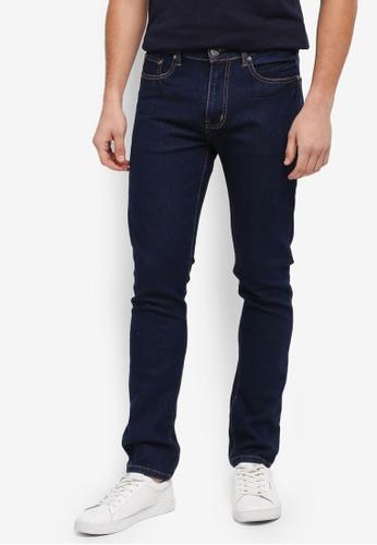 Kent & Crew 藍色 修身直筒牛仔褲 BE883AA20CBF41GS_1