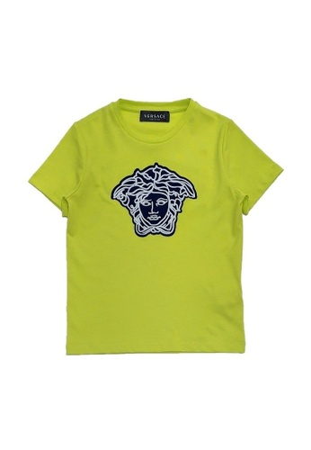 VERSACE green and blue VERSACE BOYS T-SHIRT 59FCCKAE29C6CCGS_1