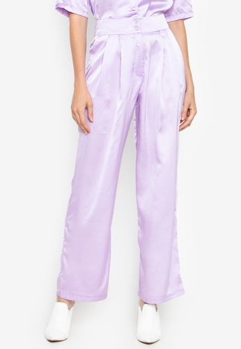 the___edit purple Dua Satin Pants 152D9AA2DAE805GS_1