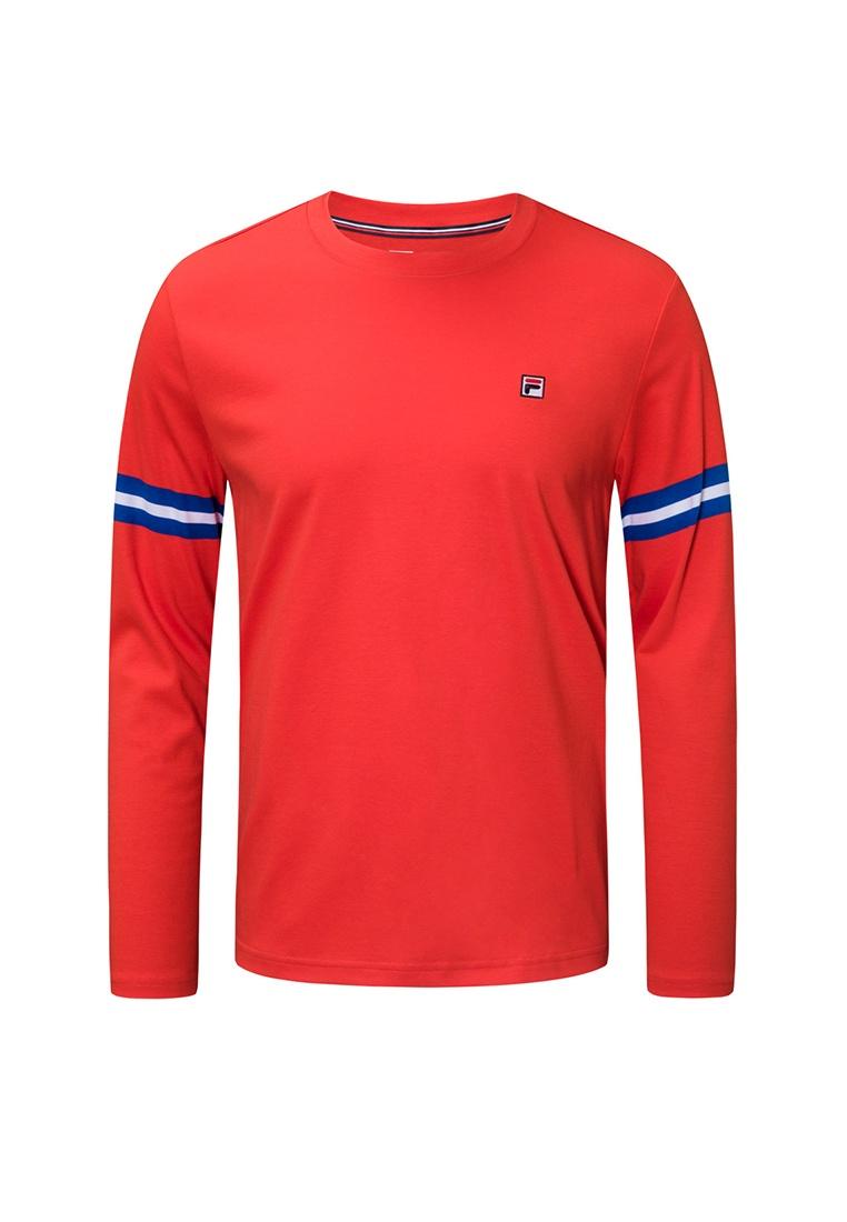 Ginny Long Sleeve FILA shirt Red T rrqf1nwdB