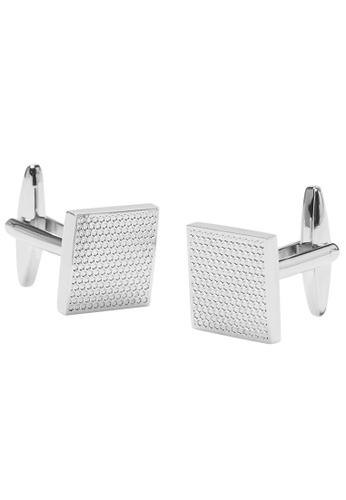 Buckle silver Nickel Brushed Cufflinks 9E0AFACAF6B1FEGS_1