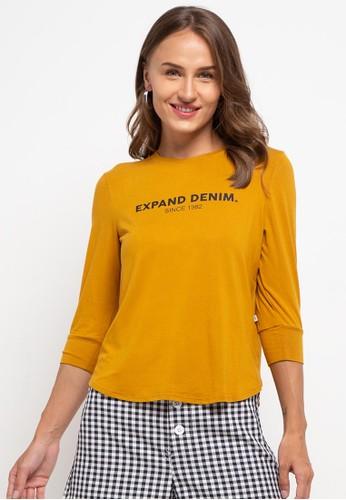 Expand yellow Zer De T-Shirt A564EAA19ACCF1GS_1