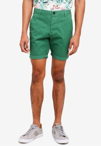 Topman green Green Chino Shorts 89C8AAA518C10CGS_1