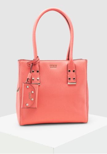 25955ebf6274e Guess orange Stephanie Girlfriend Shopper Bag 0DAF7ACA0F24DEGS 1