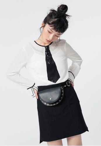 iROO black A Line Skirt 90CCEAA894FB8FGS_1
