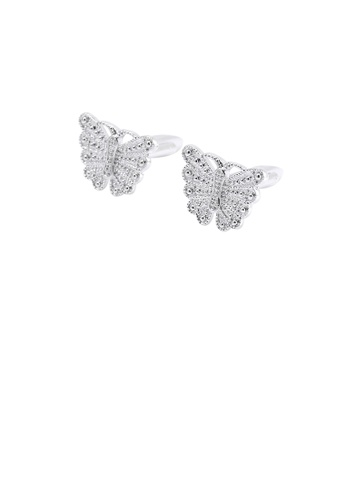 Glamorousky silver Fashion and Elegant Butterfly Cufflinks 40BAEAC42E160AGS_1