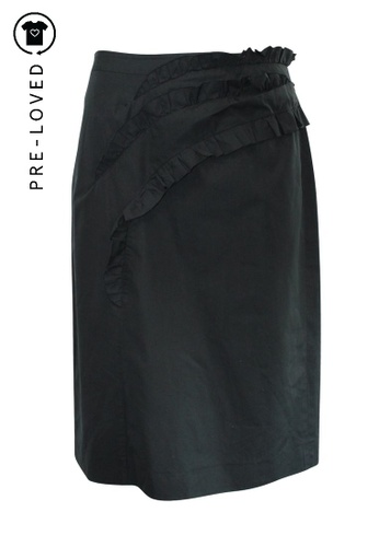 Dries Van Noten black Pre-Loved dries van noten Black Skirt with Frill 33335AAB08D221GS_1