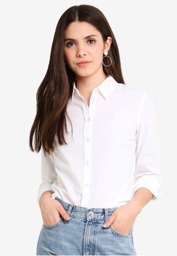 Dorothy Perkins white Ivory Linen Shirt 3FED1AA41FBE58GS_1