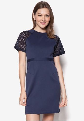 Nicole 網眼拼接連身裙,esprit 台北 服飾, 洋裝