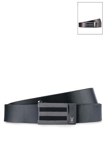 Playboy black and brown Playboy 35mm Reversible Belt PL371AC0SK1MMY_1