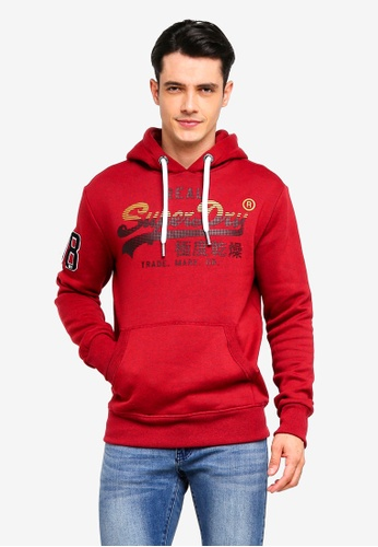Superdry 紅色 復古LOGO連帽衫 69BE0AAAD1D546GS_1