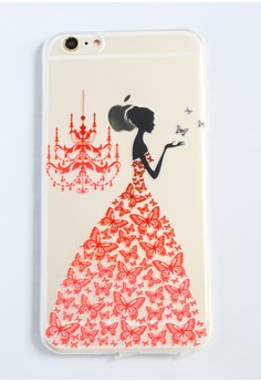 Woman and a Chandelier Soft Transparent Case for iPhone 6 plus/ 6s plus