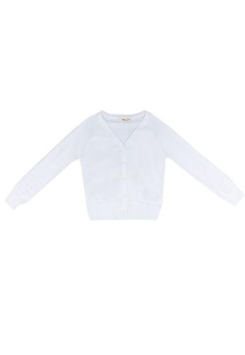 FOX Kids & Baby white Kids Girl V Neck Heart Button Cardigan 61649KAE063243GS_1