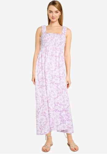 Cotton On purple Woven Thea Strappy Open Back Midi Dress 0A17CAACB92875GS_1