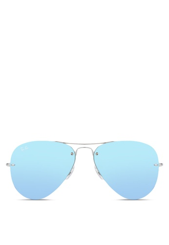 Ray-Ban grey RB3449 Sunglasses RA896GL25CXIMY_1