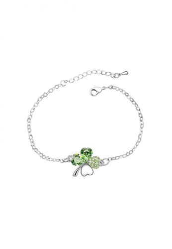 LOVENGIFTS green and silver LOVENGIFTS Lucky Bracelet (Green) LO429AC82PXLMY_1