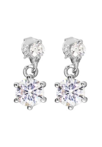 Elfi silver Elfi 925 Sterling Silver Zircon Drop Earrings SE65 EL186AC0SZF0MY_1