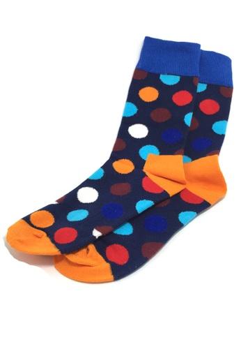 Splice Cufflinks multi Speckle Series Multi Colour Polka Dots Navy Blue and Orange Socks SP744AA74JBLSG_1