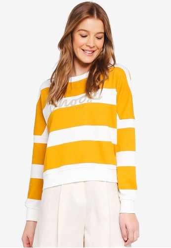 ONLY yellow Kamma Long Sleeve Batwing O-Neck Sweater 6D37CAA54C6CF6GS_1