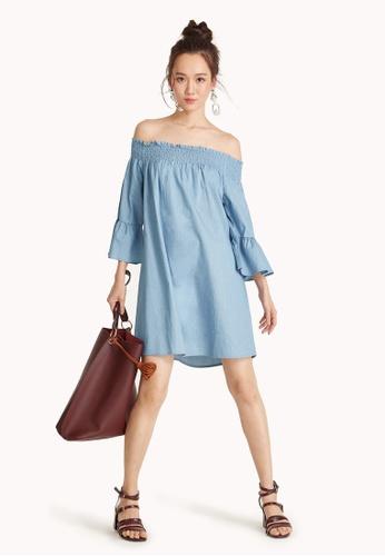 eb14b2beda04e Buy Pomelo Off Shoulder Smock Dress Online on ZALORA Singapore