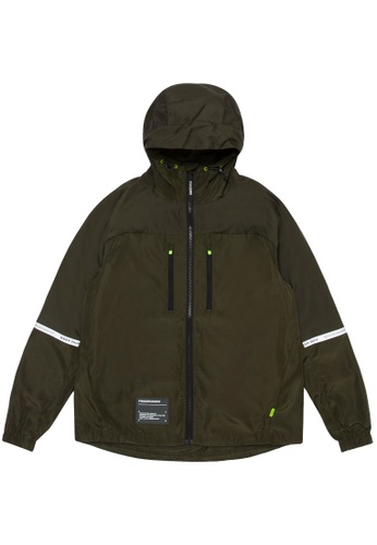 Fingercroxx green Logo patch zip jacket 75BB9AAAF910BFGS_1