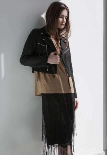 皮革拼接騎士外zalora 內衣套, 服飾, 夾克 & 大衣