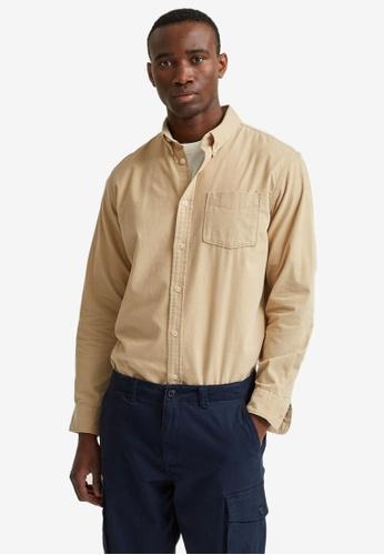 Selected Homme beige Oscar Long Sleeve Slim Shirt 45988AA496F954GS_1