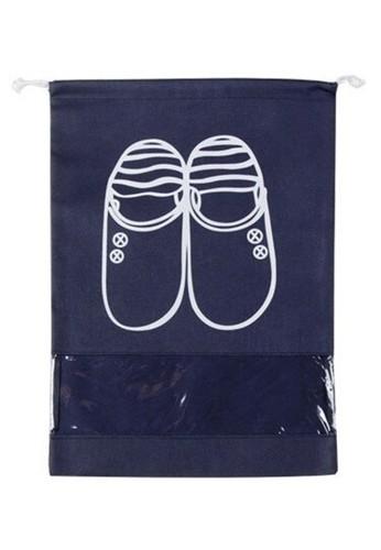Hamlin navy Hamlin Woor Tas Sepatu Fashion Pria Travel Bag Large Comparment Material Katun ORIGINAL 4EB95AC2939F55GS_1