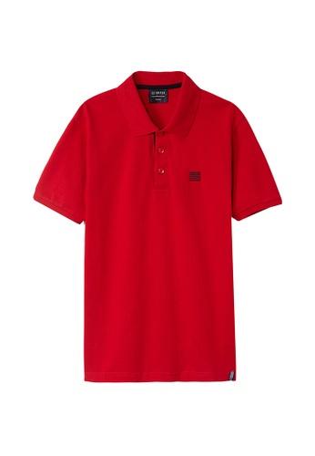 Cheetah red Cheetah C2 United Casual Short Sleeves Polo Tee - CT-70322-C3 E4E3DAA6C2F953GS_1