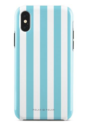 Polar Polar blue Baby Blue Stripe Dual-Layer Tough Case Glossy For iPhone X / XS 0D835AC2D7FD8BGS_1
