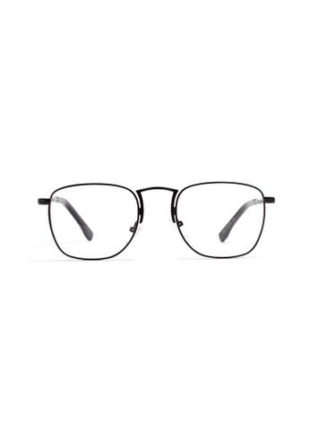 Kyfer's Eyewear & Essentials black Rectangular College Metal Eyewear KY376AC70XKRSG_1