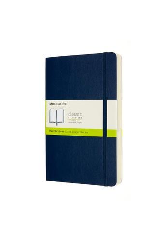 Moleskine blue Classic Notebooks Expanded Plain Soft Blue Large 8C742HLDE32E85GS_1