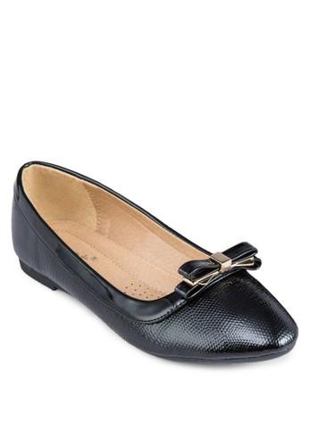 壓紋蝴蝶結平底鞋, 女鞋, 芭蕾平esprit 眼鏡底鞋