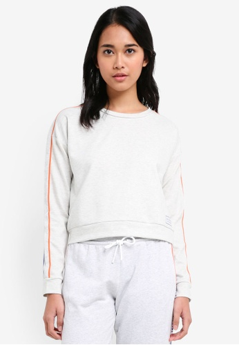 Jack Wills white Hazelgrove Cropped Sweatshirt 3F2E3AAC64E5CDGS_1