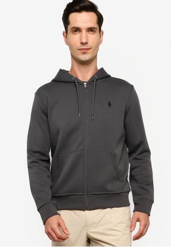 Polo Ralph Lauren grey Double Knit Tech Hoodie C3A3CAA95E4A8BGS_1