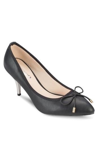 蝴蝶結撞色esprit sg高跟鞋, 女鞋, 鞋