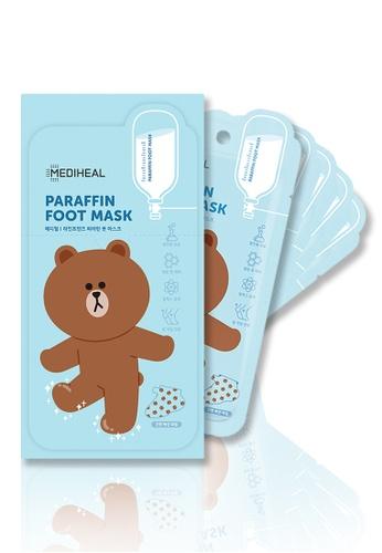 Mediheal blue Mediheal LINE FRIENDS Paraffin Foot Mask Box (5 Pairs) 7D3EFBEDDC24AAGS_1