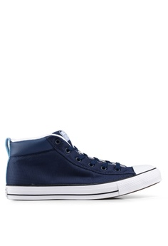 Converse navy Chuck Taylor All Star Street Uniform Mid Sneakers  E2D9DSHE897A2FGS 1 86063b983