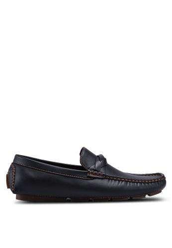 UniqTee black Loafers with Strap Detail B72D3SHC0D0EEFGS_1