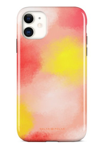 Polar Polar pink Clouds in Fall Dual-layer Tough Case Glossy for iPhone 11 4257EACF1ED214GS_1