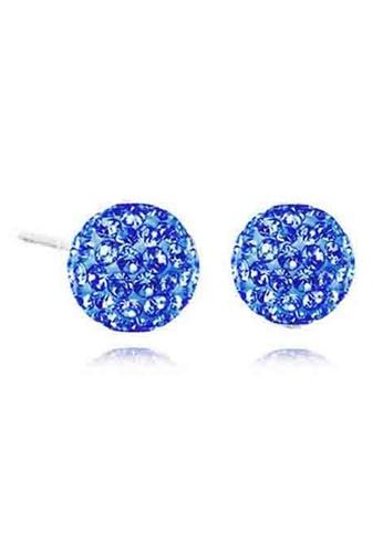 YOUNIQ silver YOUNIQ S. Element CZ 925 Sterling Silver Earrings (Blue) YO999AC78NSBMY_1