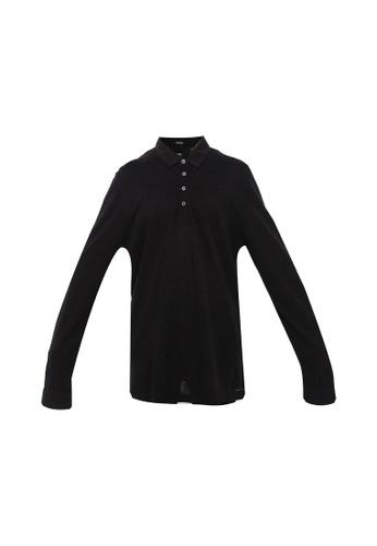BOSS black T-Pointer 09 Long Sleeve Polo Shirt 16E1AAA51943A0GS_1