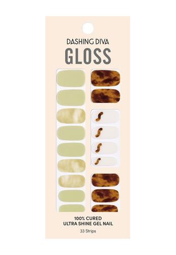Dashing Diva turquoise Dashing Diva Gloss Gel Strip Manicure Amber Greentea /Nail Sticker /Nail Wraps 3D6E6BE8762AFEGS_1